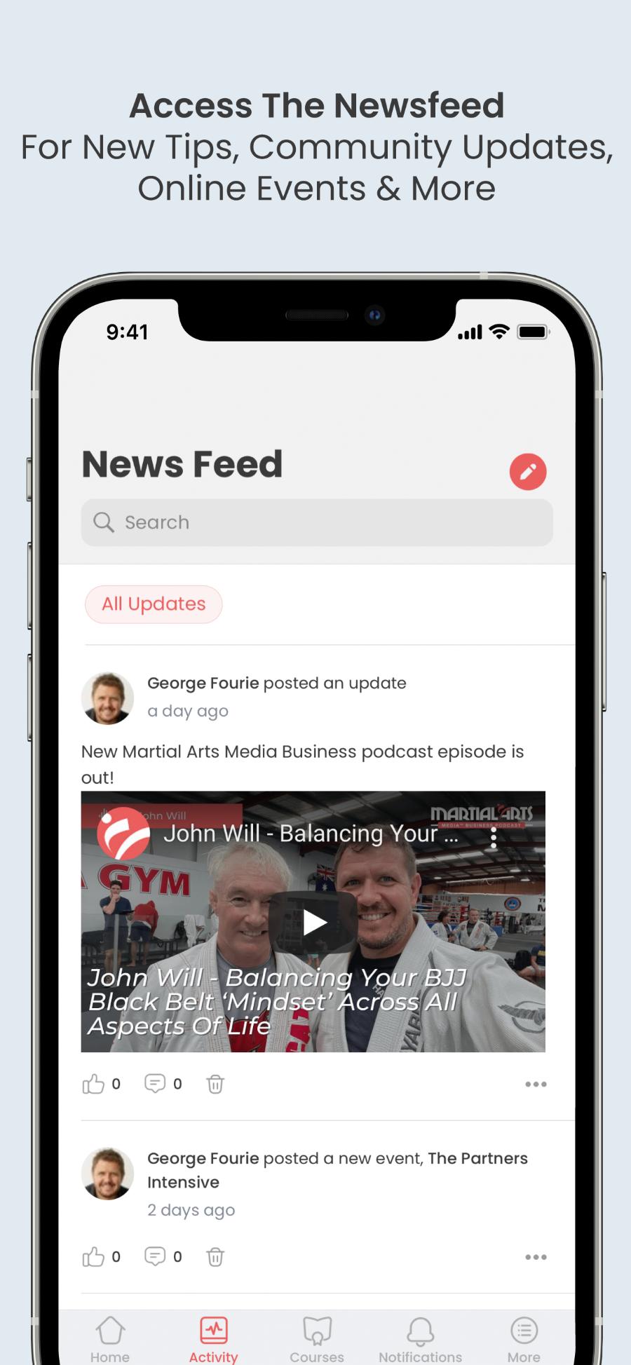 Martial Arts Media™ App Newsfeed